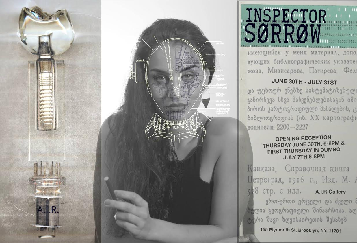 Lara Wolf, Professional Film Actress performed in Inspector Sorrow and has been featured on the exhibition's card.